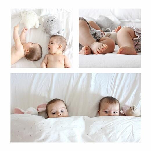 Faire-part de naissance Lovely family jumeaux (fille et garçon) - Page 2