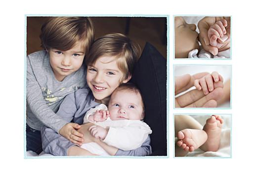 Faire-part de naissance Éléphant aquarelle 5 photos bleu - Page 2