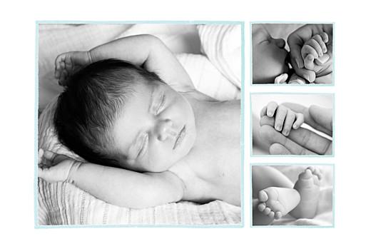 Faire-part de naissance Hibou aquarelle 5 photos blanc - Page 2