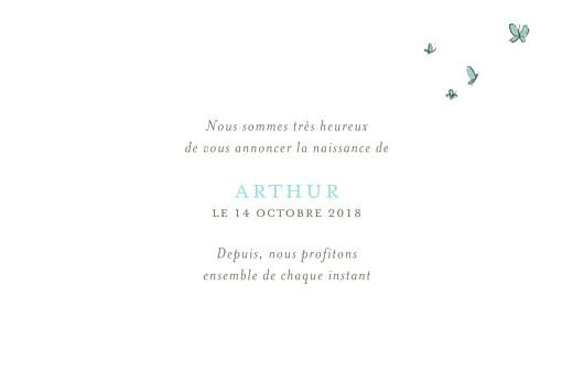 Faire-part de naissance Hibou aquarelle 5 photos blanc - Page 3