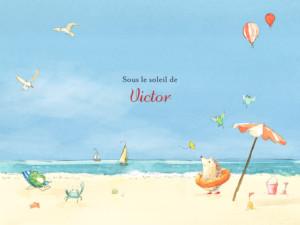 Affichette Conte d'été bleu
