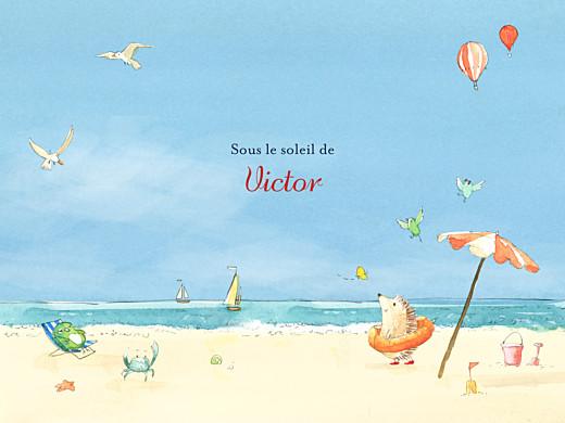 Affichette Conte d'été bleu - Page 1