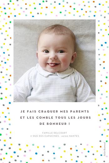 Faire-part de naissance Happy 2 photos blanc - Page 2