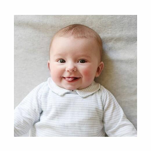 Faire-part de naissance Happy (triptyque) blanc - Page 4