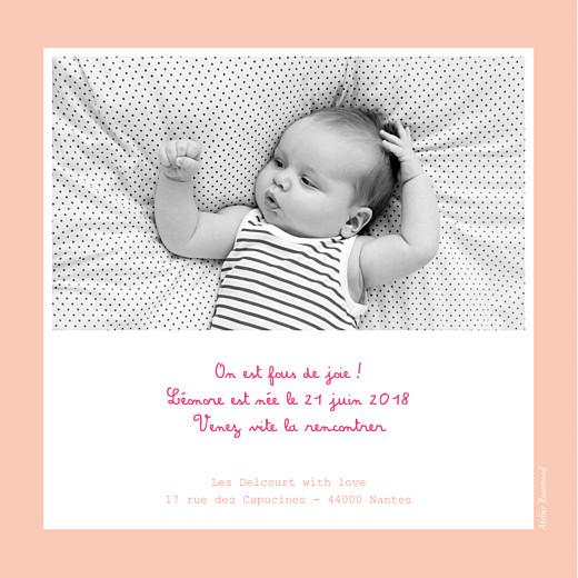 Faire-part de naissance Cherry chou photo rose