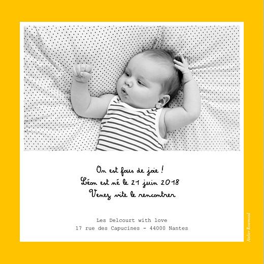 Faire-part de naissance Tutti frutti photo jaune