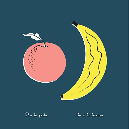 Faire-part de naissance Tutti frutti photo bleu