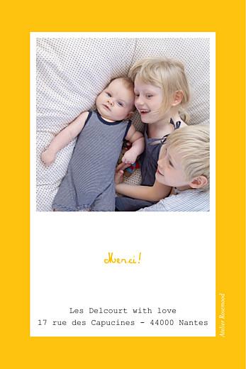 Carte de remerciement Merci tutti frutti photo jaune - Page 2