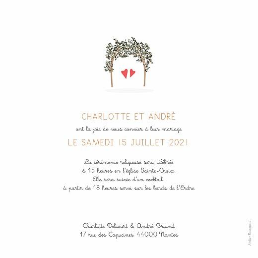 Faire-part de mariage Jour de fête crème - Page 2