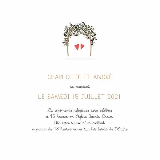 Faire-part de mariage Jour de fête (4 pages) crème - Page 3