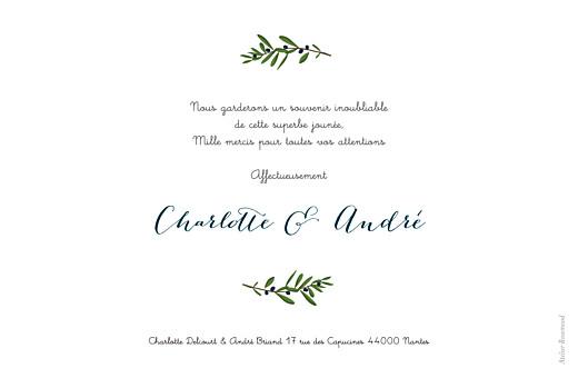 Carte de remerciement mariage Jour de fête crème