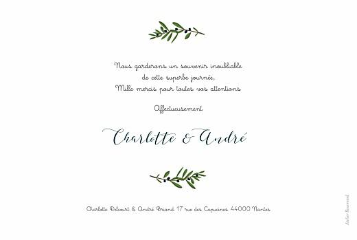 Carte de remerciement mariage Jour de fête crème - Page 2