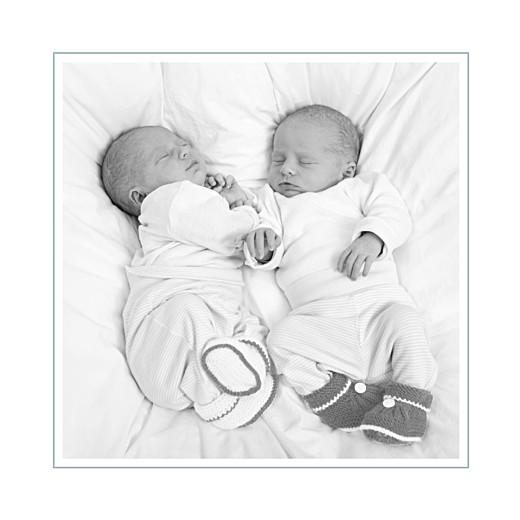 Carte de remerciement Petit jeux d'enfants jumeaux gris