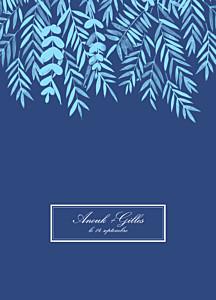 Livret de messe mariage Feuillage bleu