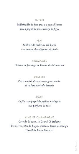 Menu de mariage Ombres florales bleu - Page 2