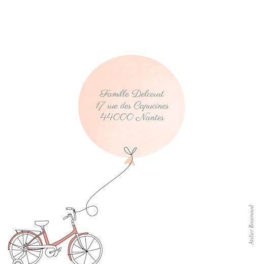 Faire-part de naissance À bicyclette (triptyque) corail - Page 3