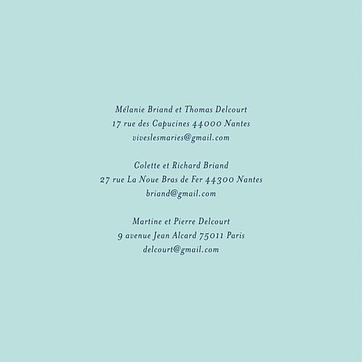 Faire-part de mariage Bleu de minuit (4 pages) bleu - Page 2