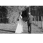 Carte de remerciement mariage Simple  4 photos (triptyque) corail page 4
