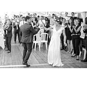Carte de remerciement mariage Simple  4 photos (triptyque) corail page 5