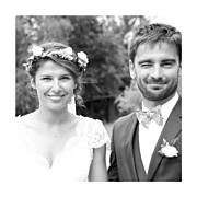 Carte de remerciement mariage Souvenir 4 photos (triptyque) bleu page 2
