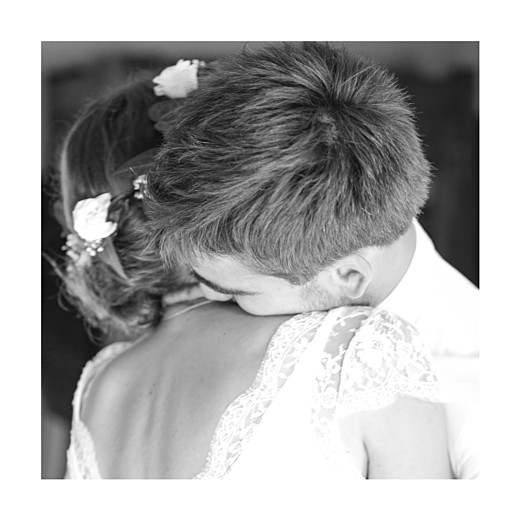 Carte de remerciement mariage Souvenir 4 photos (triptyque) bleu - Page 4