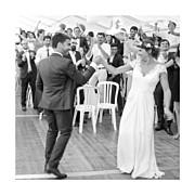Carte de remerciement mariage Souvenir 4 photos (triptyque) bleu page 6
