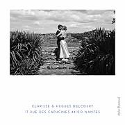 Carte de remerciement mariage Souvenir 5 photos (triptyque) bleu page 3