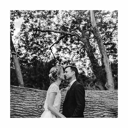 Carte de remerciement mariage Souvenir 5 photos (triptyque) bleu - Page 4
