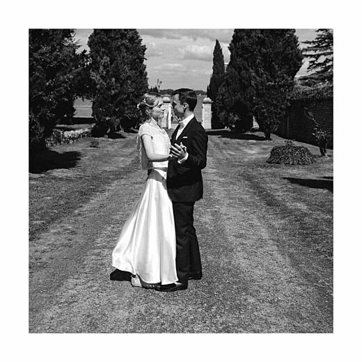 Carte de remerciement mariage Souvenir 5 photos (triptyque) bleu - Page 6