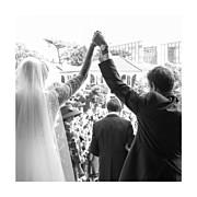 Carte de remerciement mariage Chic 3 photos (triptyque) corail page 5