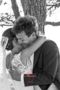 Carte de remerciement mariage Bel instant 1 photo portrait corail