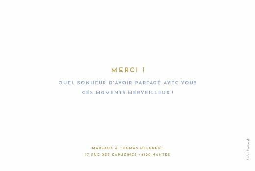 Carte de remerciement mariage Simple 1 photo paysage bleu & jaune - Page 2