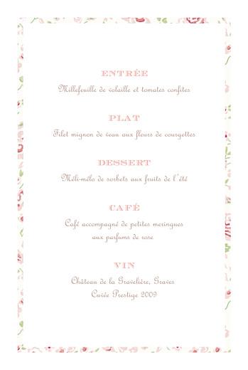 Menu de baptême Félicité rose - Page 3