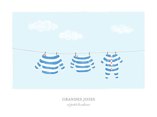 Affiche Fil à linge marinière bleu - Page 1