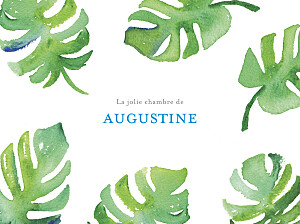Affiche Acapulco blanc & vert
