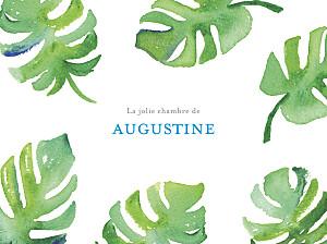 Affiche vert acapulco blanc & vert