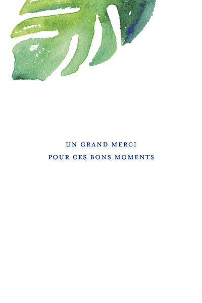 Carte de correspondance Acapulco blanc & vert finition