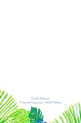 Carte de correspondance Tropic vert - Page 2