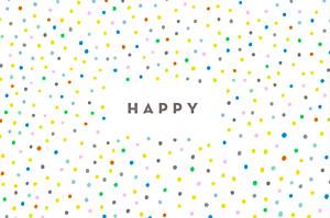 Carte de correspondance blanc happy blanc