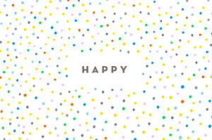 Carte de correspondance Happy blanc