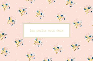 Carte de correspondance Souvenir rose