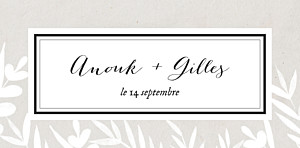 Marque-place mariage Feuillage gris
