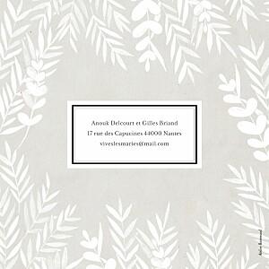 Faire-part de mariage Feuillage (4 pages) gris