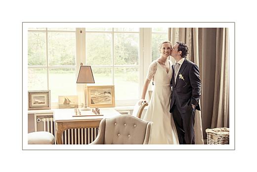 Carte de remerciement mariage Ombres florales bleu - Page 2