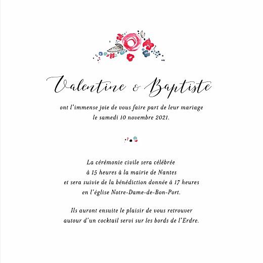Faire-part de mariage Romance blanc - Page 3