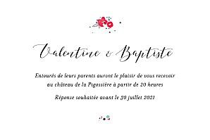 Carton dinvitation de mariage personnaliser rosemood carton dinvitation mariage romance blanc stopboris Image collections
