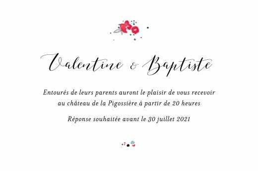 Carton d'invitation mariage Romance blanc