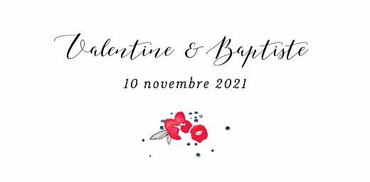 Marque-place mariage Romance blanc