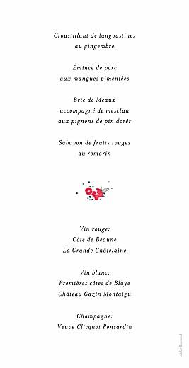 Menu de mariage Romance blanc - Page 2