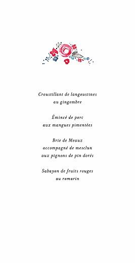 Menu de mariage Romance (4 pages) blanc - Page 3